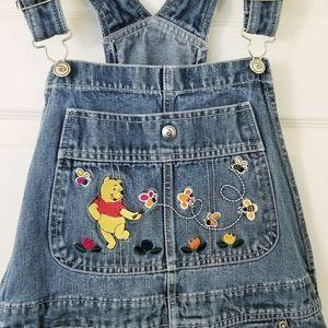 Disney Winnie the Pooh Denim Overalls - Large